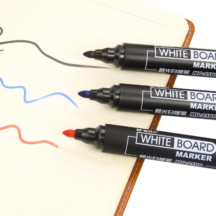 1box(12pcs)marker Pen Non-toxic Erasable White Board Pen Whiteboard Tasteless White Board Pen Office Stationery for School