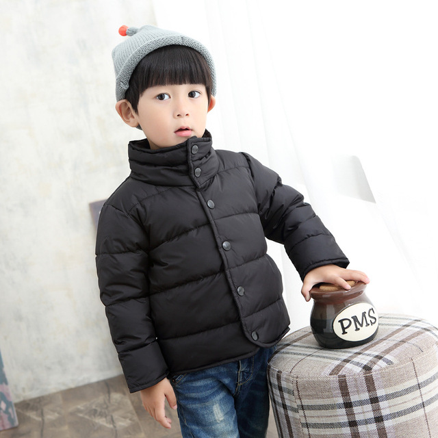 Grandwish Boys Turtleneck Winter Overcoat Girls Solid Casual Coats Kids Warm Jackets Children Button Outerwear 3T-10T, SC468