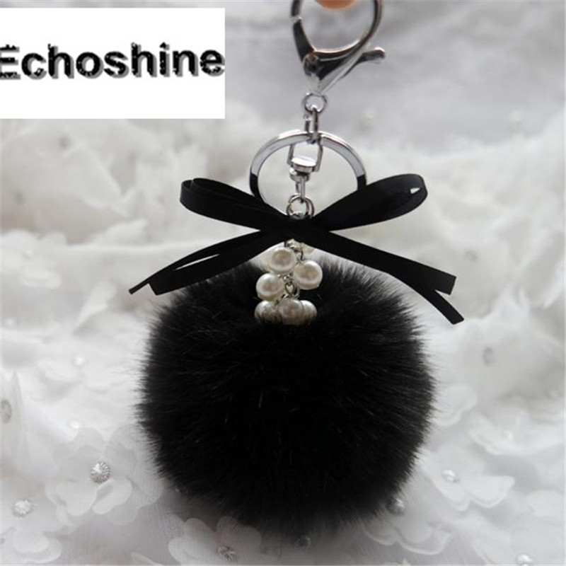 100% brand new and high quality Faux Rabbit Fur Ball  Bag Plush handbag  Pendant  Women Bag Accessories B10 4402 new fashion tassel black women s flares denim boyfriend skinny ripped jeans for women female pants trousers size 26 32