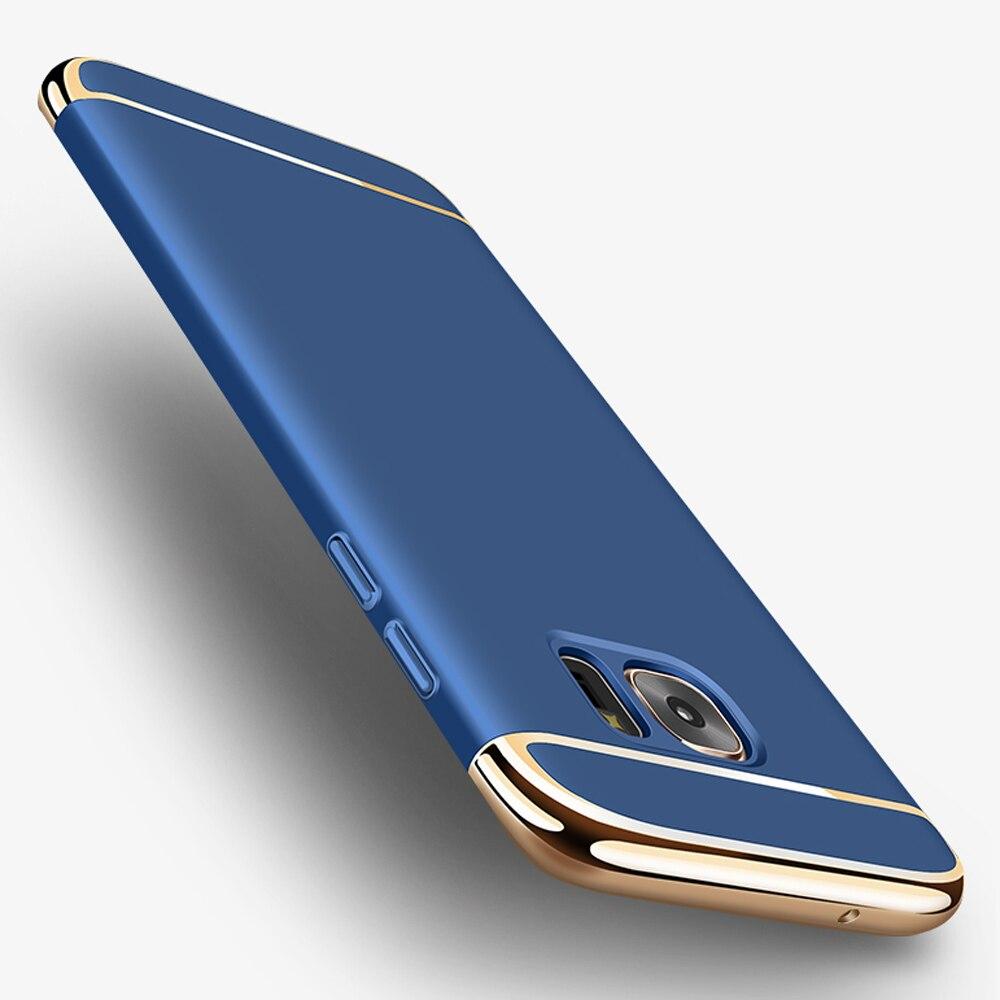 Для Samsung Galaxy S8 Plus 3 в 1 Combo хромированный elextroplating жесткий акрил Телефонные Чехлы для мангала для S6 <font><b>S7</b></font> край