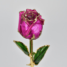 2019 Romantic 24k Gold Plated Rose Flower Creative Lover Rose For Home Decoration Gift romantic plated rose gold rhinestone coralline ring
