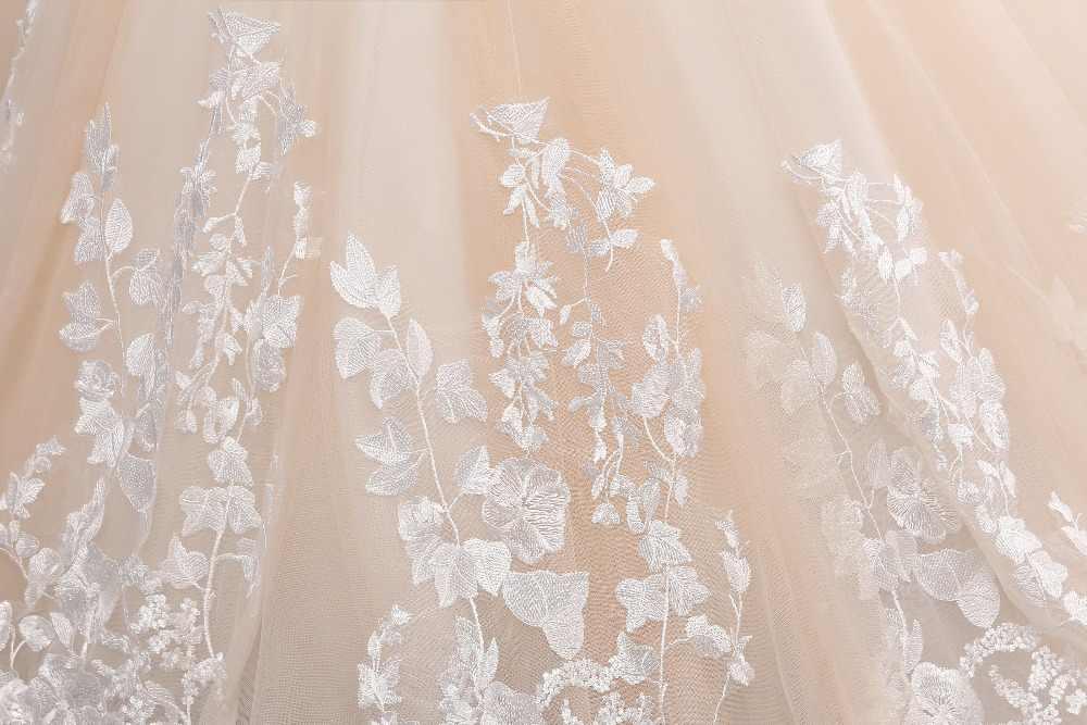 Vestido de novia de encaje largo romántico Sweetheart manga larga corte tren sirena vestidos de novia Vestido de novia 2017