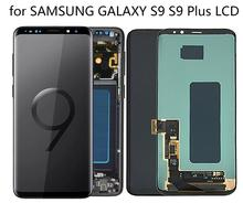 Original Super AMOLED For SAMSUNG GALAXY S9 Plus LCD Touch Screen Digitizer Assembly Frame G960 G965