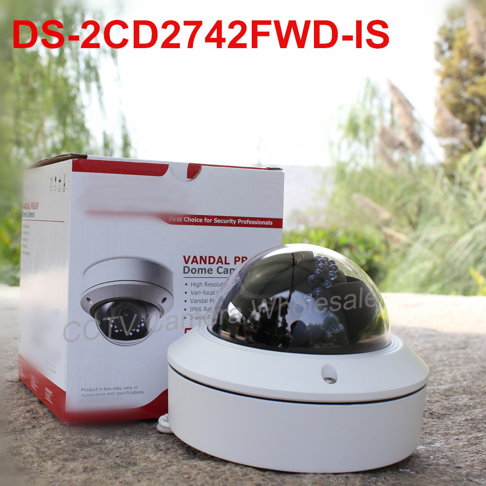 In stock International English version DS-2CD2742FWD-IS 4MP WDR Vari-focal Dome Network ip Camera POE, vandal proof fundamentals of physics extended 9th edition international student version with wileyplus set