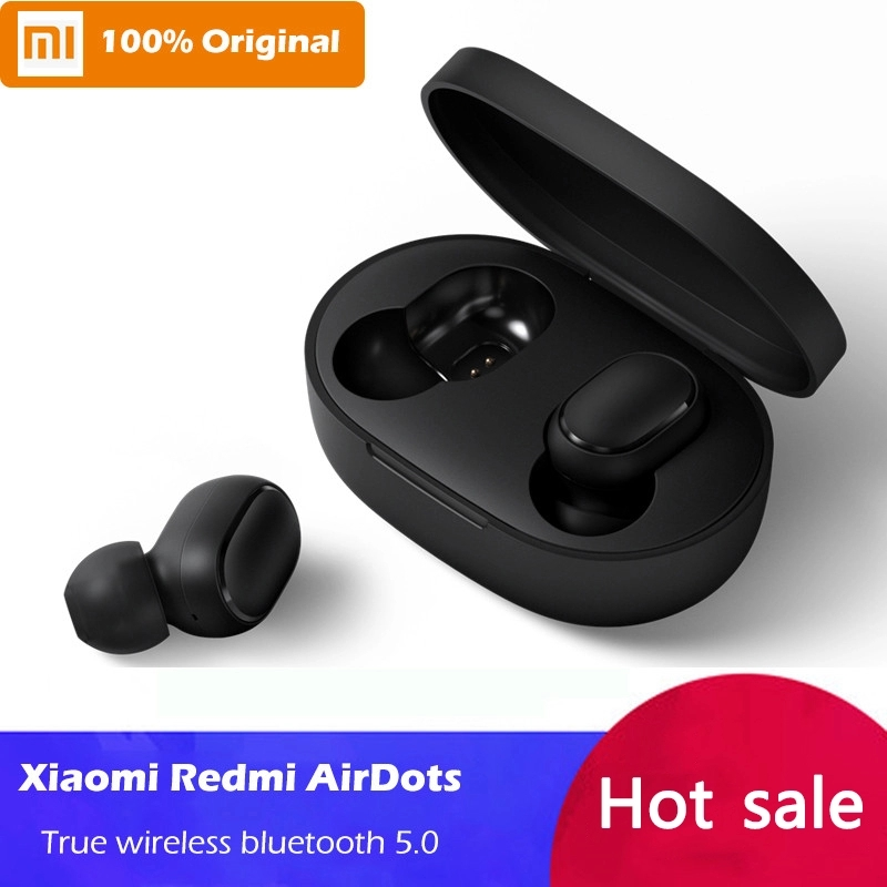 2019 novedad original Xiaomi Redmi Airdots TWS estéreo Bluetooth 5,0 en la oreja auriculares ANC y micrófono auriculares manos libres AI control