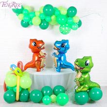 FENGRISE Foil Dinosaur Balloon Safari Party Birthday Baby Shower Balloons Decoration Childrens Baloon