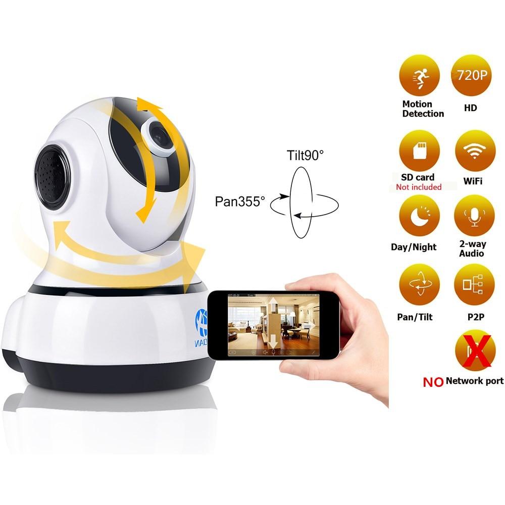 JOOAN 720P Wireless IP Camera 1280*720 Network Surveillance Wifi Night Vision CCTV Security Camera Indoor Baby Monitor