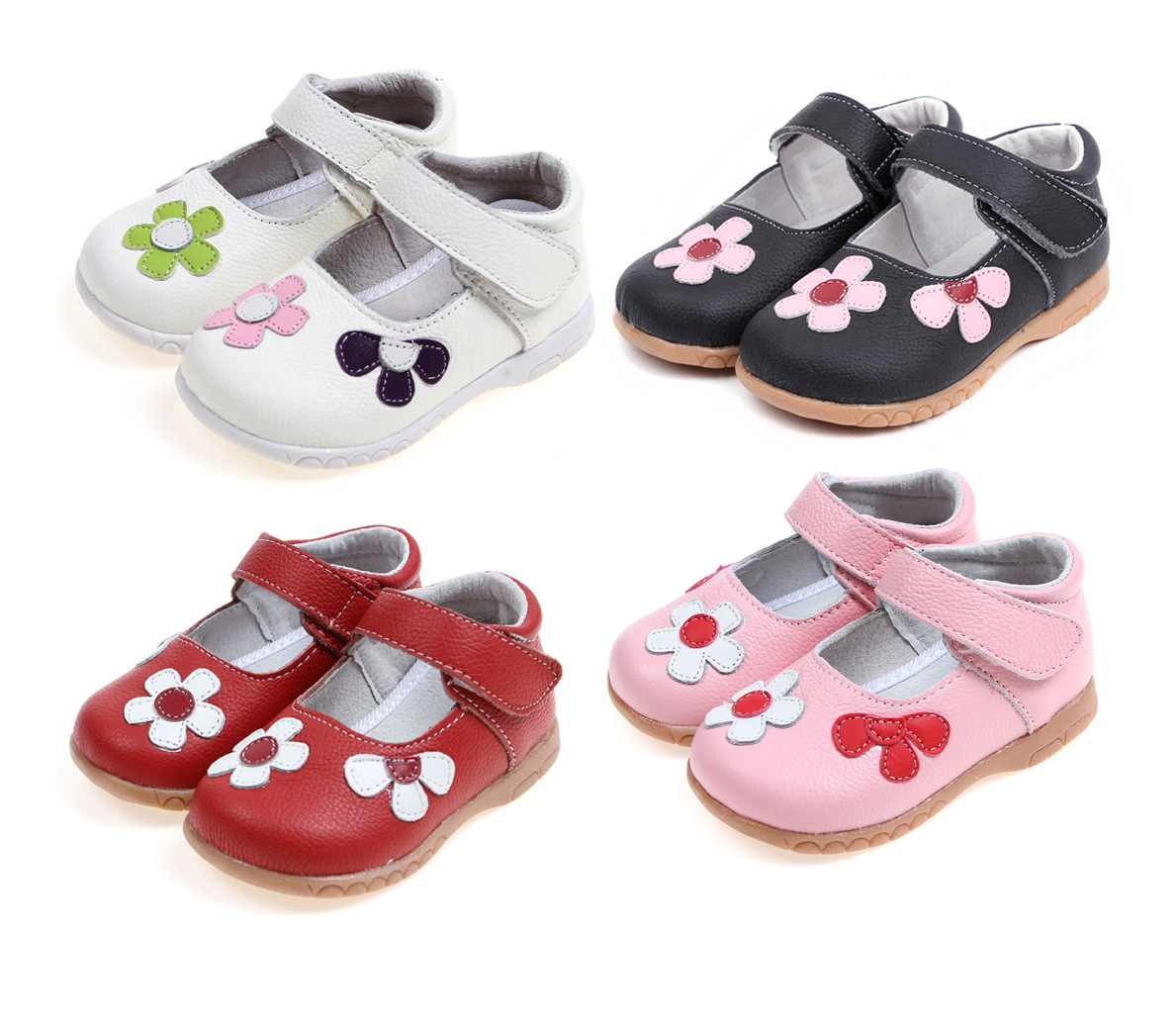 2017 new spring flowers and leather selling children shoes children sandals girls sandals
