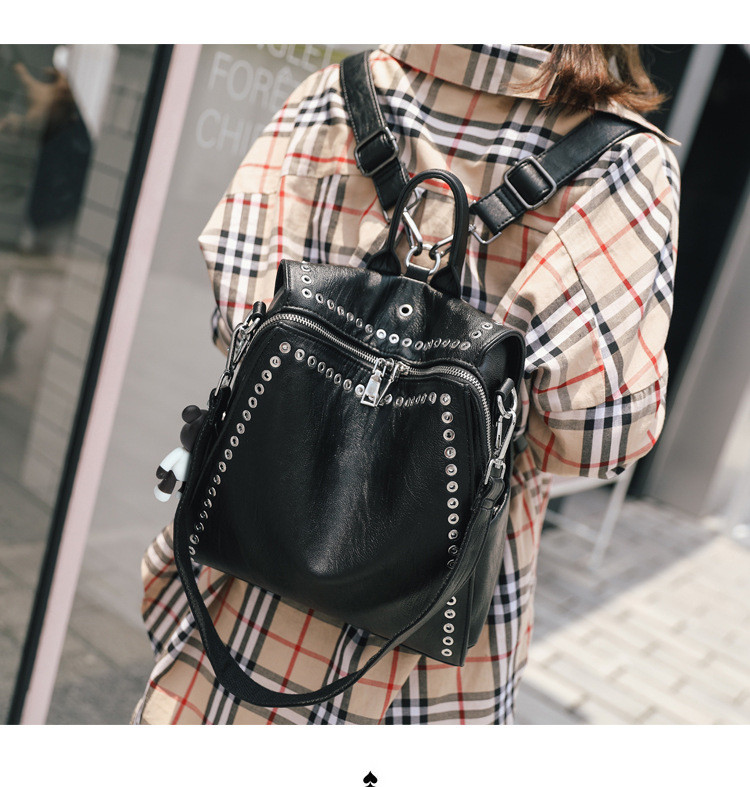 HTB1ui0 afvsK1Rjy0Fiq6zwtXXaX QINRANGUIO Leather Backpack Women School Bags for Teenage Girls 2019 New Fashion Large Capacity PU Leather Black Women Backpack