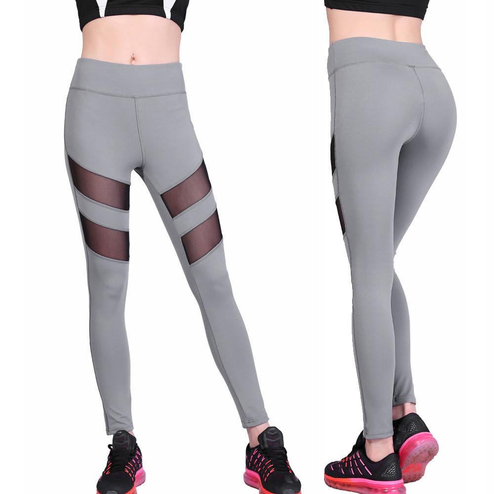 Womail Brand Best Price Elbows for fitness Women High Waist Sexy Skinny Leggings of Patchwork Mesh Push Up Yoga Pants