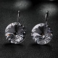 Italina Rigant Genuine Rose / White Gold Plated Austria Crystal Drop Earrings for Women