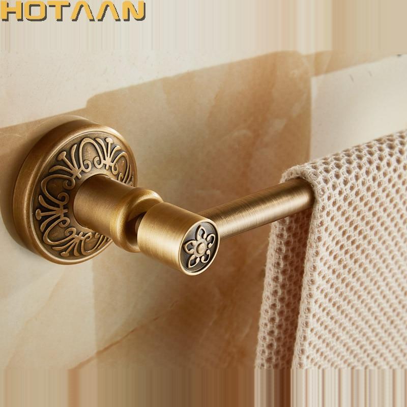 цена на Free Shipping (24,60cm)Single Towel Bar/Towel Holder,Solid Aluminium,Antique Brass Finish,Wall Mounted Bathroom accessories