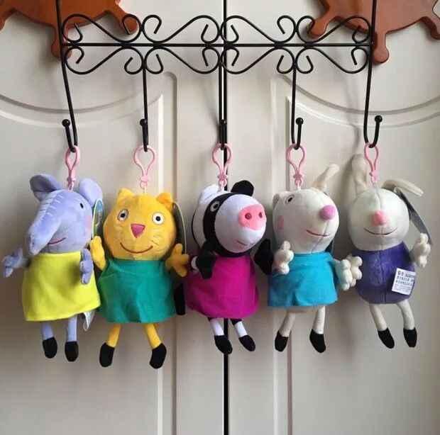 8 Pçs/set Peppa Pig Amigos Emily Rebecca Suzy Ovelhas De Pelúcia Brinquedos de Pelúcia Dos Desenhos Animados George Pigs Presentes de Aniversário de Natal Para Crianças
