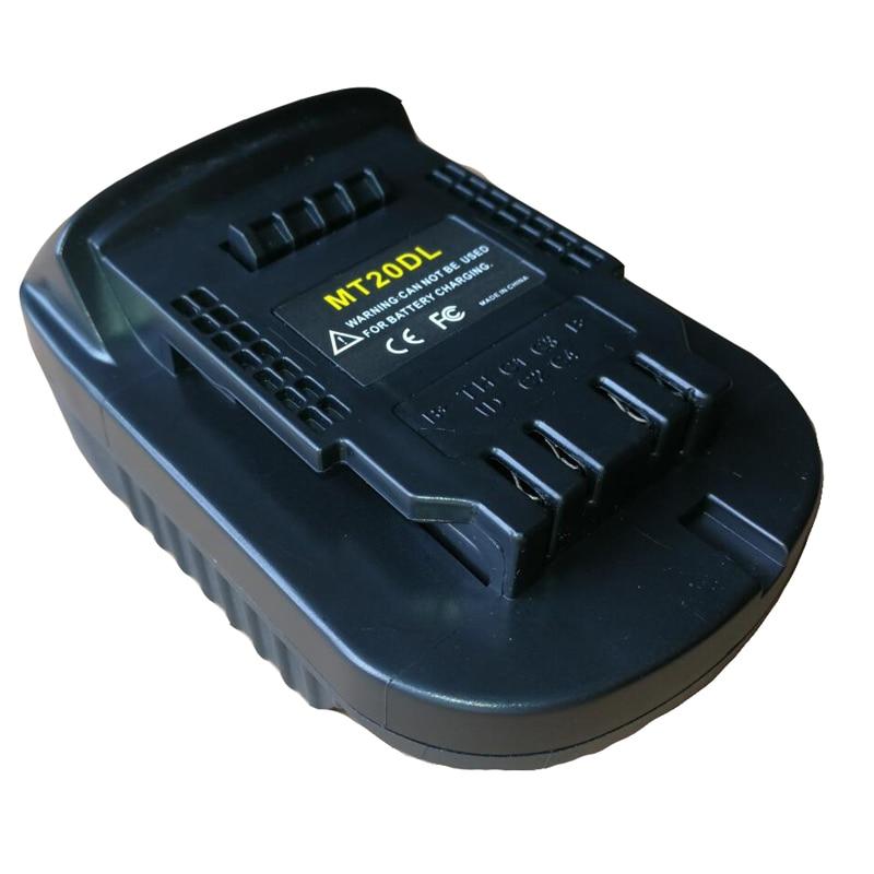 dawupine MT20DL Battery Converter Adapter USB Charger For DeWalt Tool Convert Makita 18V Li-ion Battery BL1830 BL1860 to DCB200dawupine MT20DL Battery Converter Adapter USB Charger For DeWalt Tool Convert Makita 18V Li-ion Battery BL1830 BL1860 to DCB200