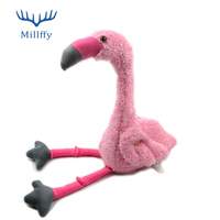 Funny toy 40cm Plush Simulation Flamingo Toy Singing Twisting Neck Flamingos Electronic Toys Interactive Funny Music Doll Gift