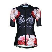 ILPALADINO Frauen Reiten Kurzarm Jersey Voll Zipper Weibliche Atmungsaktive Radfahren Kleidung Quick Dry Frauen Radfahren Top-in Rad-Trikots aus Sport und Unterhaltung bei