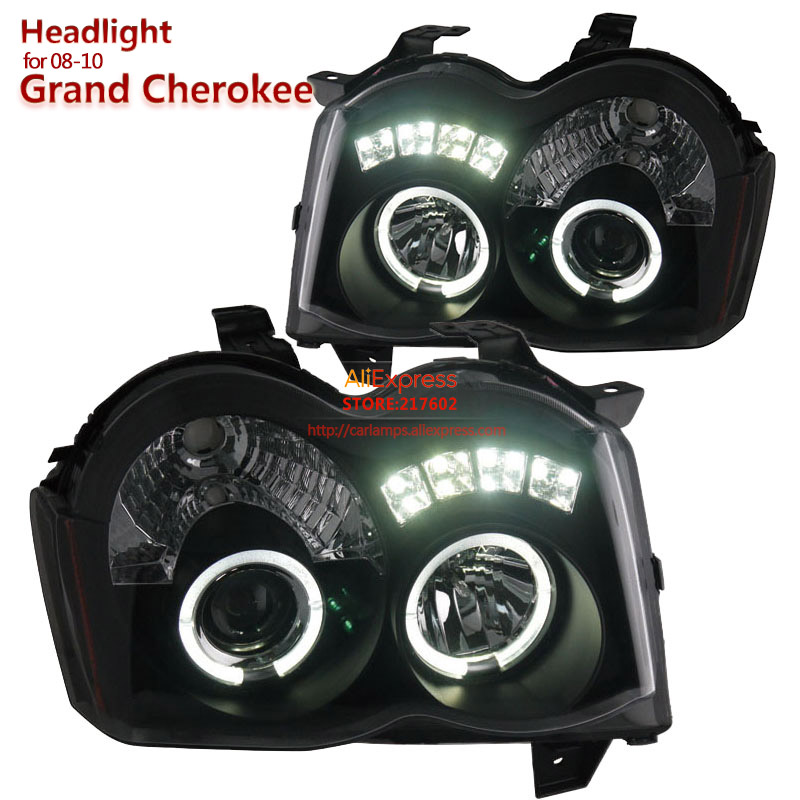 SONAR brand for Grand Cherokee Headlights Assembly fit for 2008 to 2010 year car models Angel eye Tuning car lamps