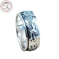 S925 Litego Thai Srebrny Pierścień Smoka 3D Kobiet Rozmiar 8 13 100% Prawdziwa 925 Sterling Silver Rings dla Mężczyzn Boy Biżuteria HR13