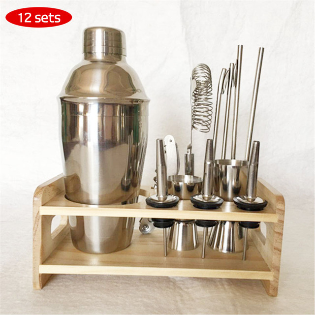 Stainless Steel Tail Set Professional Bartender Tools 250 350