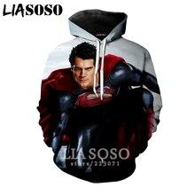 07c99243740db LIASOSO invierno nueva moda hombres mujeres sudadera 3D impresión película  Superman Hoodie Unisex de manga larga
