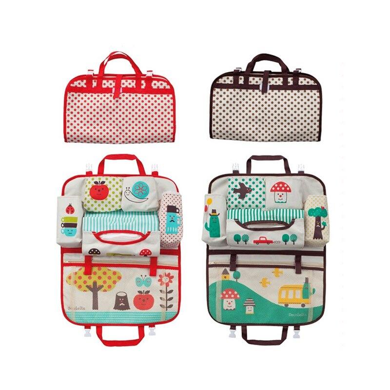 2018 Vehicle Seat Storage Hanging Bags Cars Chair Back Baby Cartoon Convenient Receive Bag DE1717