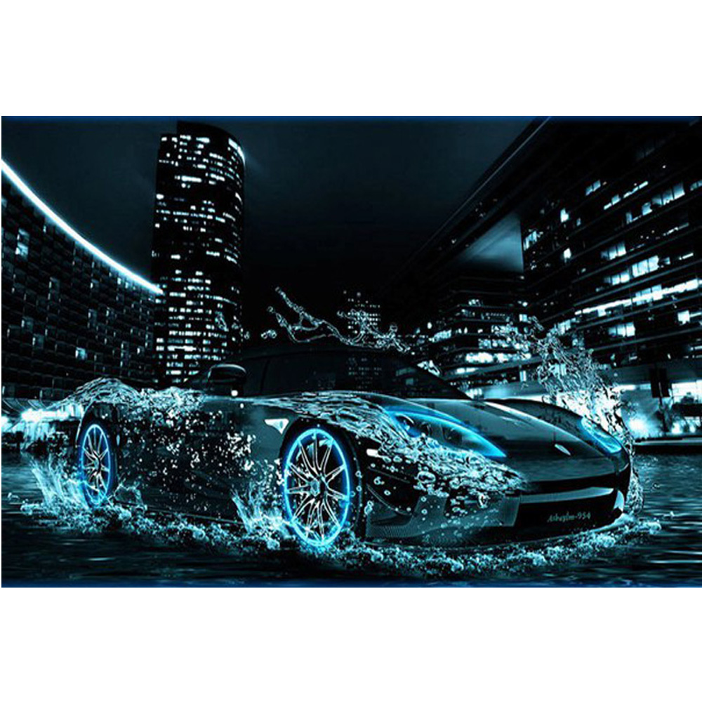 New Hot DIY Diamond Painting 100%full square drill home decor Painting Sports Car Cross Stitch Embroidery Mosaic picture H583