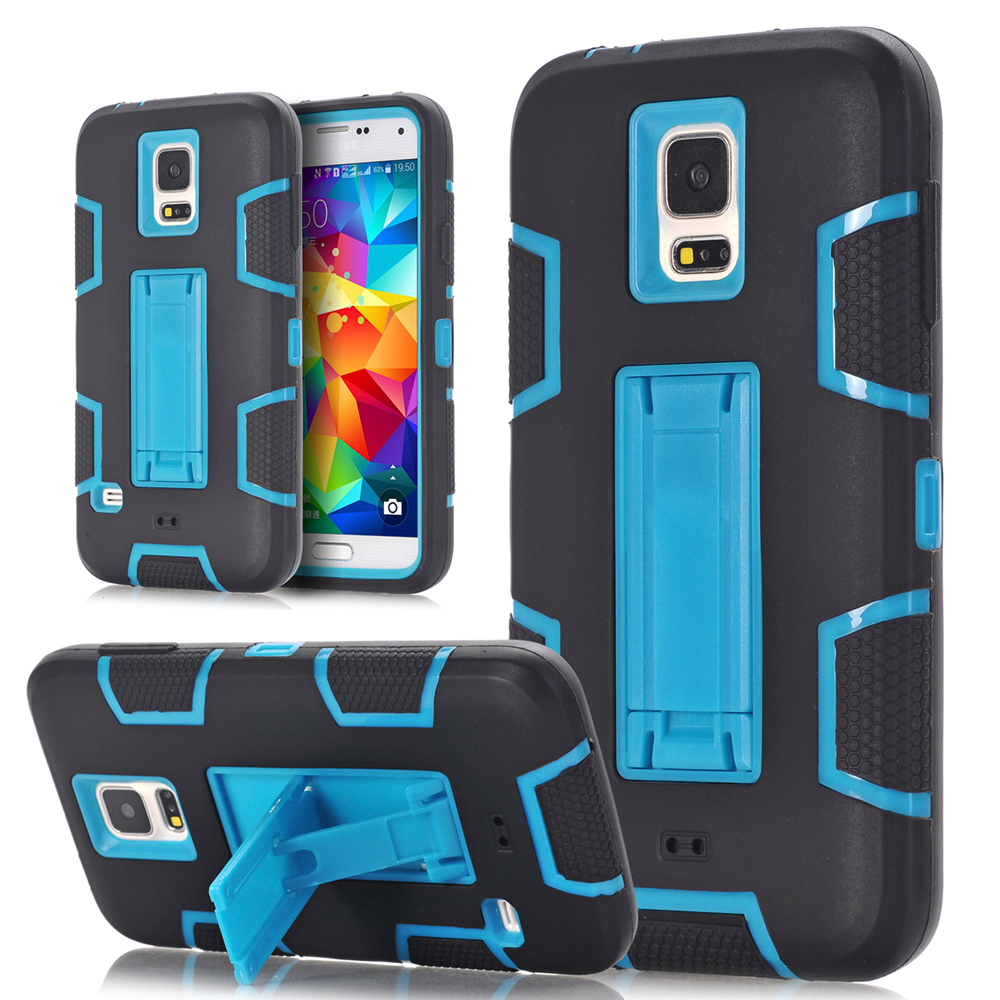 Case Cover For Samsung Galaxy S3 S4 S5 Stand Phone Cases Shockproof Hybrid Armor Rubber Heavy Duty For Note 3 Note 3 Cover
