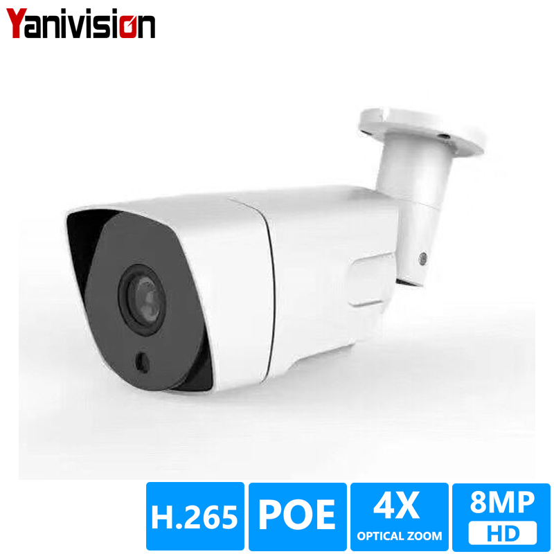 8MP 5MP POE H.265 Bullet IP Camera Waterproof 4X ZOOM Motion Detection Night Vision ONVIF P2P Security Outdoor IP Camera