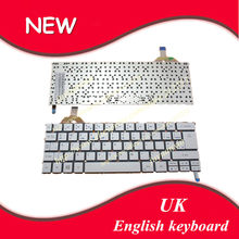 UK(GB) English keyboard For Acer S7 S7-391 S7-392 MS2364 SILVER Backlit Keyboard(China)
