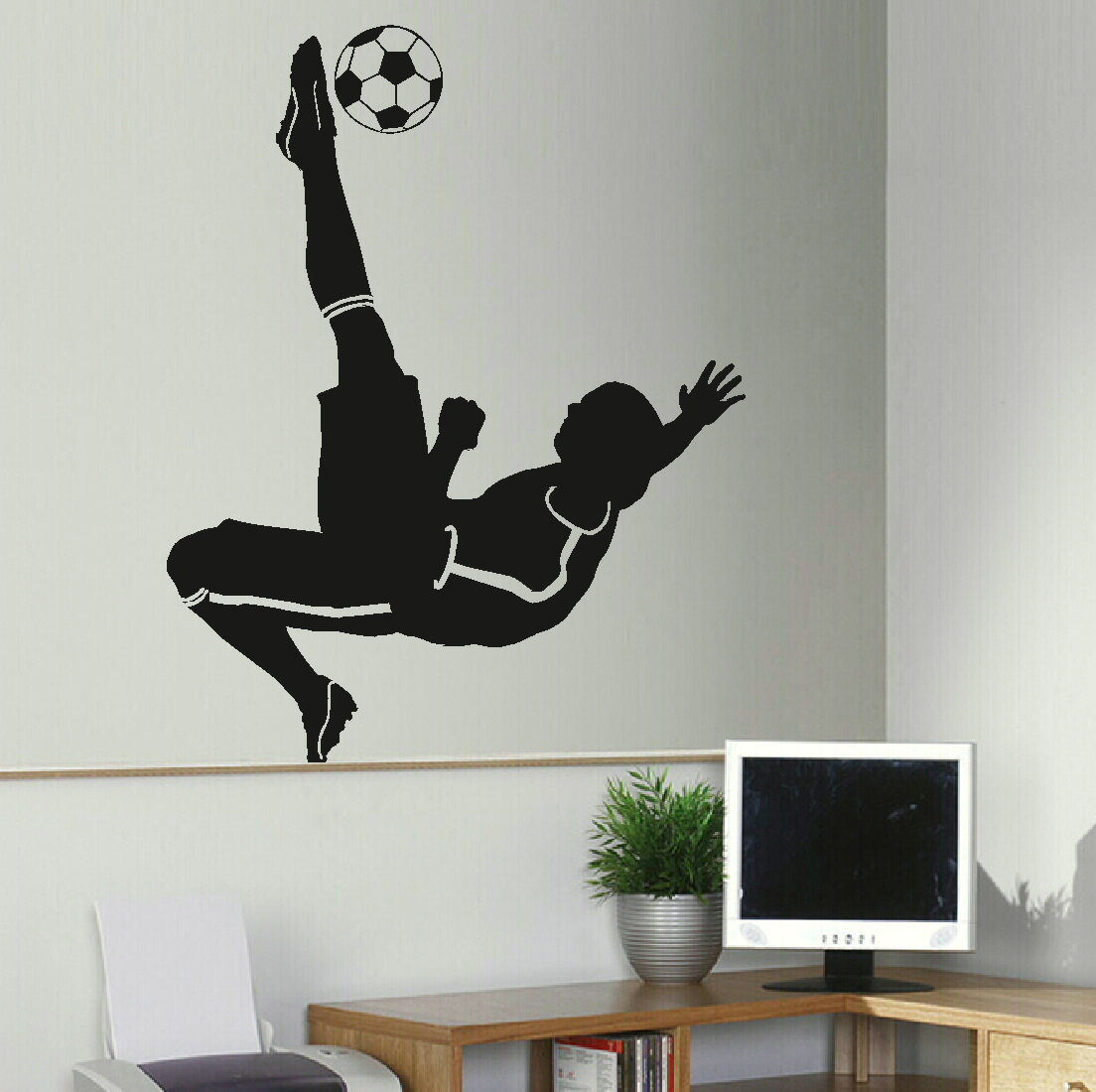 Transfer Stickers For Walls D307 Large Football Footballer Wall Mural Transfer Art