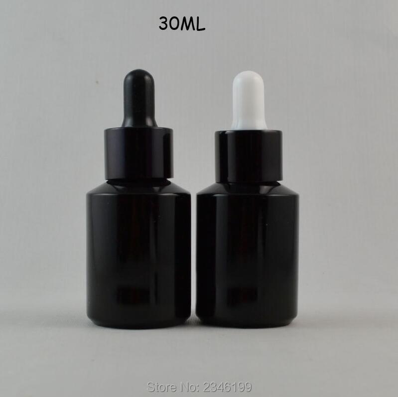 Güzellik ve Sağlık'ten Doldurulabilir Şişeler'de 30 ML 20 adet/grup Parlak Siyah Cam kozmetik uçucu yağ Şişesi, DIY Boş Cam Sıvı Damlalık Paketi, Kozmetik Kapları'da  Grup 1