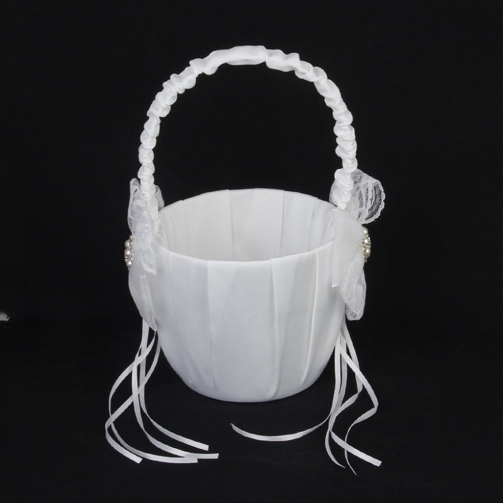 Easter 1322cm elegant wedding ceremony party ivory satin white easter 1322cm elegant wedding ceremony party ivory satin white bowknot party love case satin flower girl basket free shipping in party diy decorations from izmirmasajfo