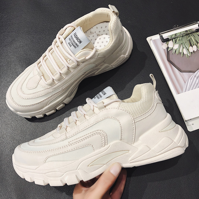 2019 new net red mens shoes tide retro Harajuku sneakers thick bottom old brand off white
