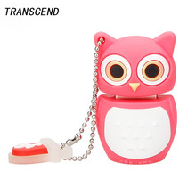 Transcend owl series pen drive cartoon model flash drive usb2.0 4GB 8GB 16GB 32GB 64GB memory stick pendrive gift free shippin