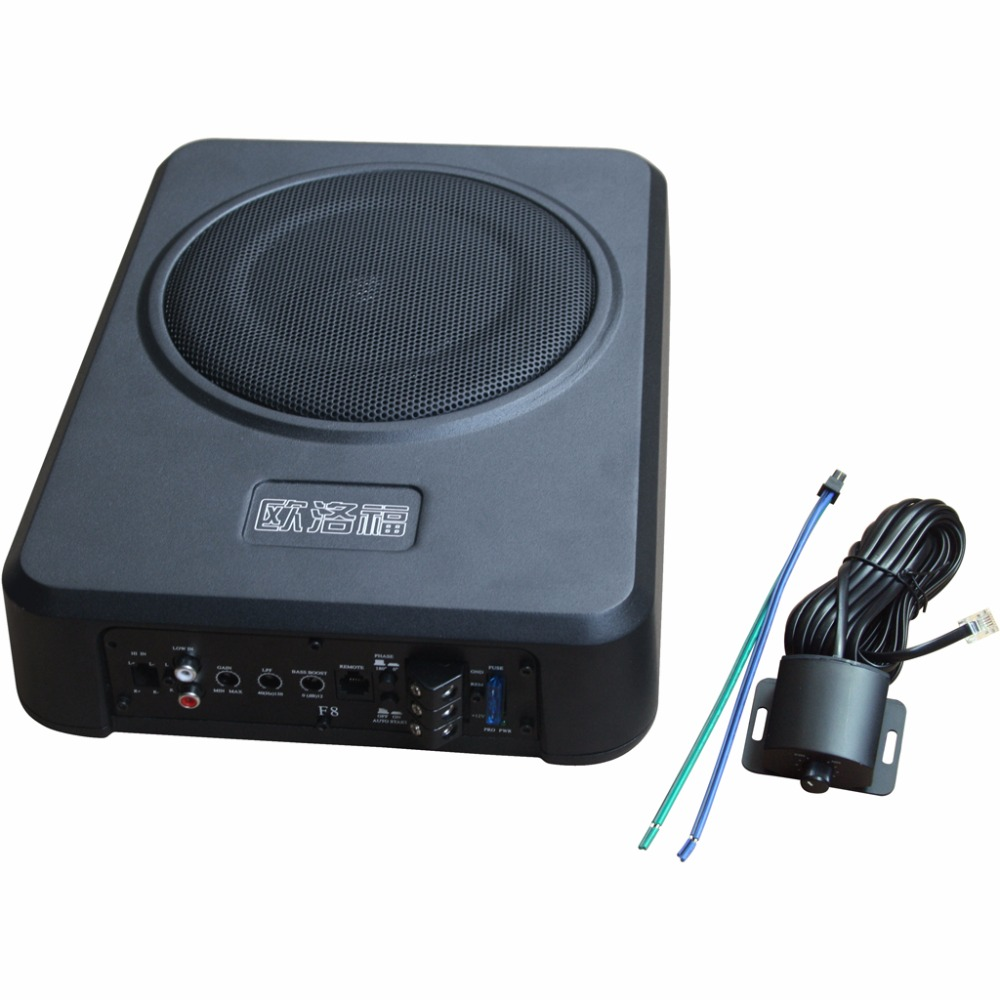 Power font b Amplifier b font Under Seat Bass Box with Remote font b Subwoofer b