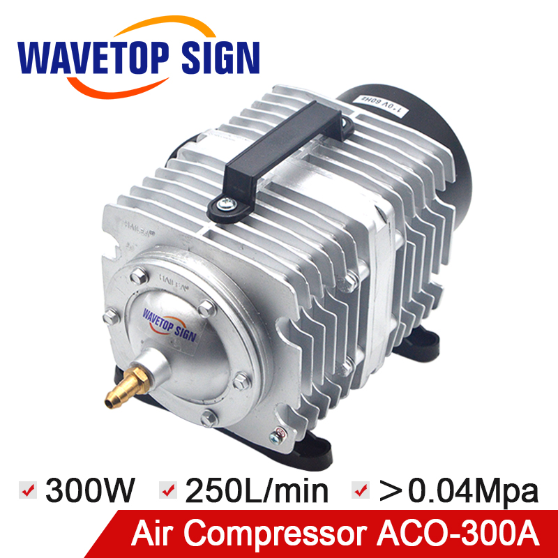WaveTopSign Air Compressor ACO-300A 300W 250L/min Electrical Magnetic Air Pump For CO2 Laser Engraving Cutting Machine