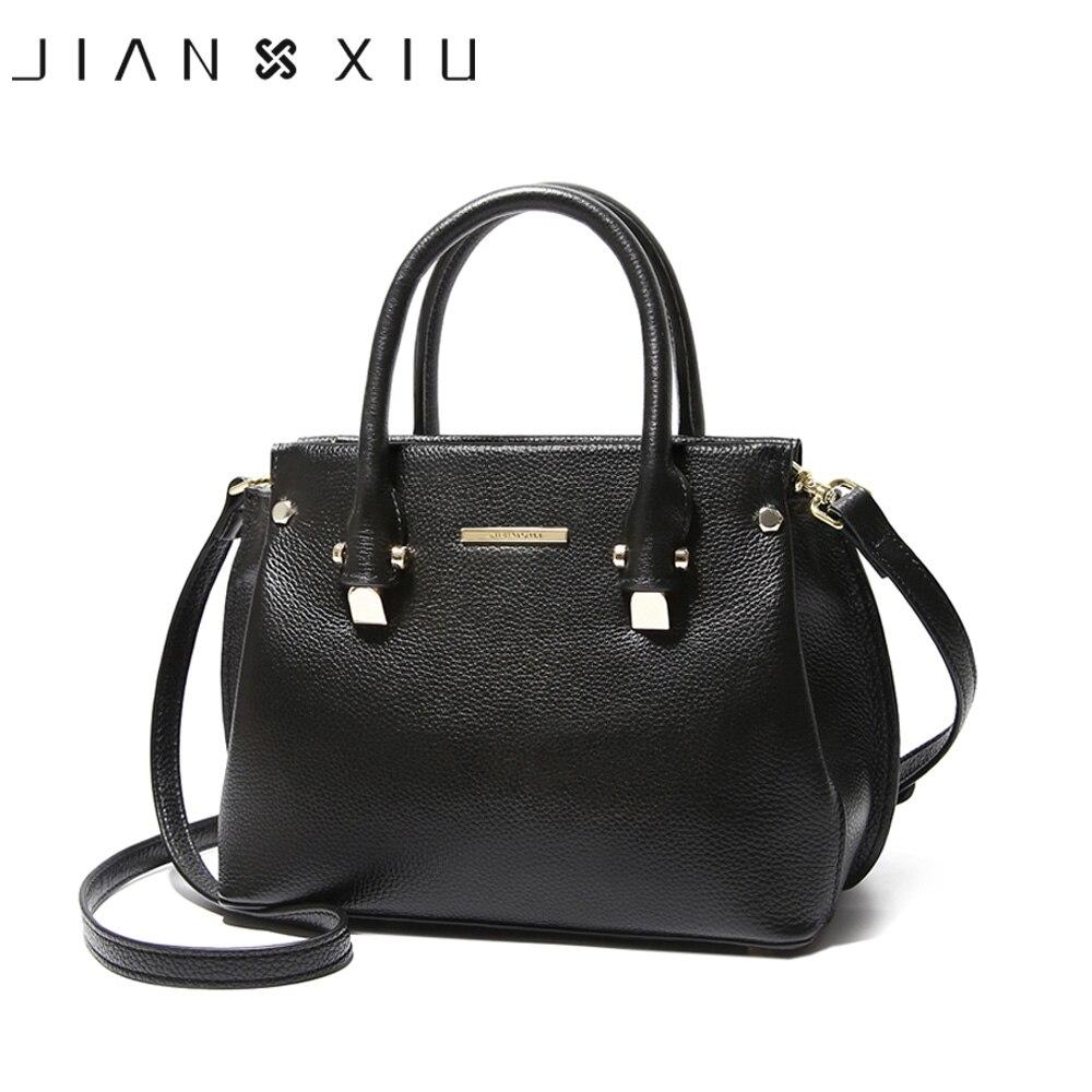 JIANXIU натуральная кожа сумки женские плеча Crossbody сумки для Для женщин кожаная сумка Женская сумка Большой верхней ручкой