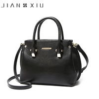 JIANXIU Genuine Leather Totes Female Shoulder Crossbody Bags For Women Leather Handbag Ladies Messenger Bag Large Top handle Bag