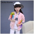 Jocelyn Katrina Girl Coats Manteau Fille Kids Jackets for Girls Clothes 2017 Spring Flower Print Girls Outerwear Children Coat