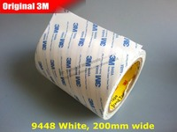 200mm 50M 20cm Wide 3M Strong Double Sided Coated Adhesive White Tape For Nameplate Rubber