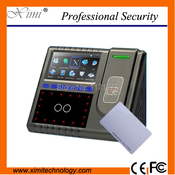 Standard RFID caed multi-biometric identification time attendance and access control TCP/IP RS2327485 office face clock device