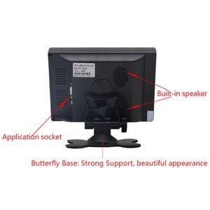 Image 3 - Monitor de tela touch portátil 7 polegadas, monitor vga hdmi, com tela hd de 1024x600 resolução entrada av,