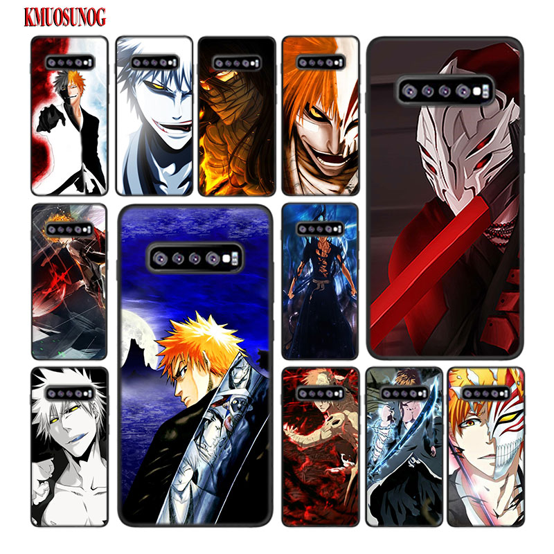 For Samsung Galaxy M30 M20 M10 Note 9 8 S10 S10e S9 S8 Plus S7 S6 Edge Black Silicone Case Bleach Anime Kurosaki Ichigo Style in Fitted Cases from Cellphones Telecommunications