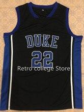 4335e567e  22 Jay Williams  21 Trajan Langdon Duke Blue Devils Basketball Jersey blue  white Embroidery