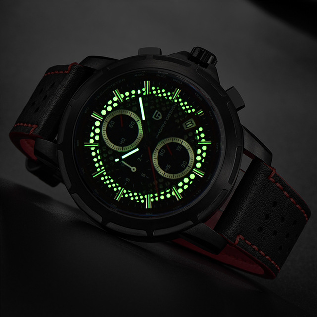 2018 Men Watch PAGANI DESIGN Top Brand Chronograph Quartz Men s Leather Watches Military Luxury Luminous