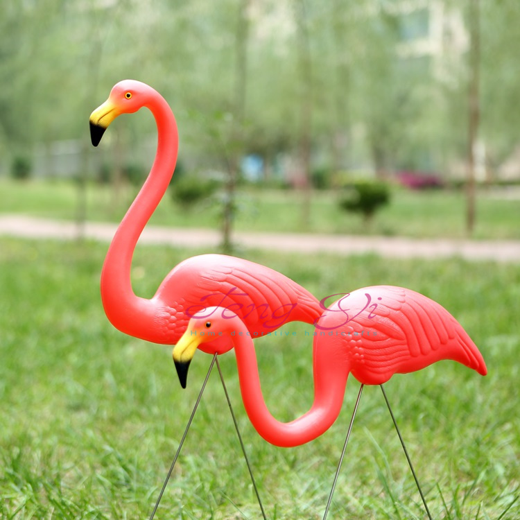 Aliexpress.com : Buy 10 Pairs Red Plastic Flamingo Handicraft And Jardin  Lawn Wedding Decoration And Decorative Art Garden Ornaments Landscape From  Reliable ...