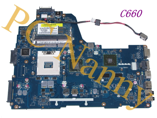 For Toshiba Satellite C660 Laptop Motherboard - K000124380 PWWHA LA-7201P hm65 with * nvidia graphics chip * - good mundorf mkp mcap supreme silver gold oil 1000 vdc 0 1 uf