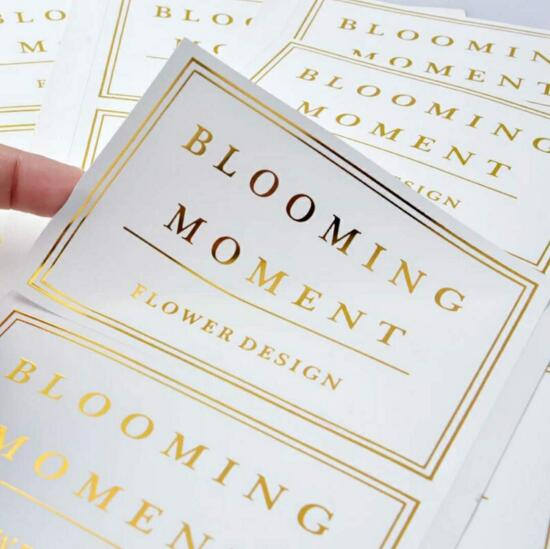 US $45 0 10% OFF Professional custom gold foil stamping embossed logo  stickers round logo sticker manufacturer-in Stickers from Home & Garden on