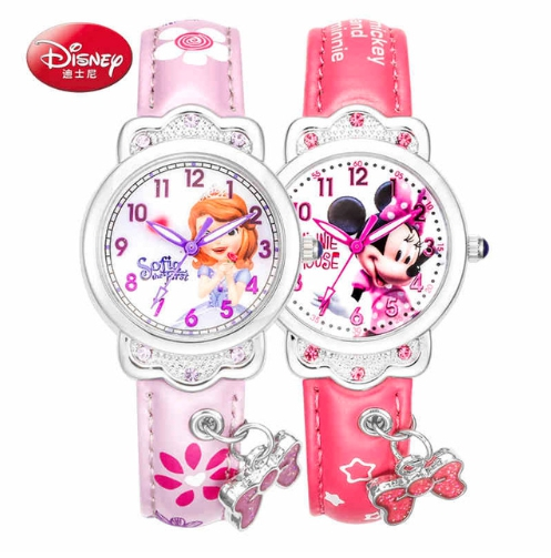 Luxury Brand 100% Genuine Disney Brand Watches Frozen Sophia Minnie Watch Fashion Luxury Watch Men Girl Wrist Watch Watches