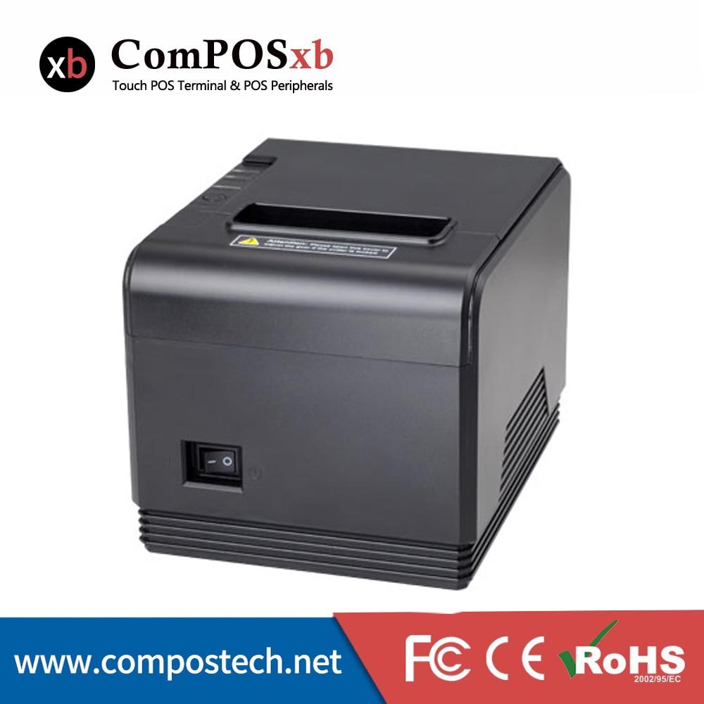 Imprimante à reçu thermique 80mm/80 imprimante à reçu thermique TP200 avec Interface RS232/USB/LAN